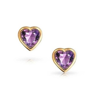 Bling Jewelry Simulated Amethyst Birthstone