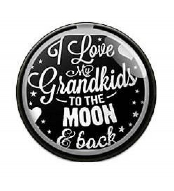 Interchangeable Snap Jewelry I Love my Grandkids to the Moon & Back by My Gifts - C1186AEY9RD