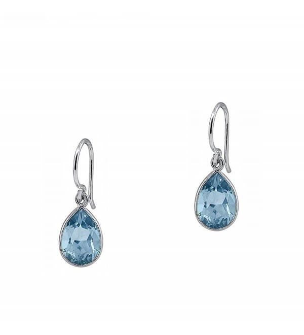 2.50 CTW Pear-Shaped Blue Topaz Drop Earrings in Sterling Silver - CS182AZ5088