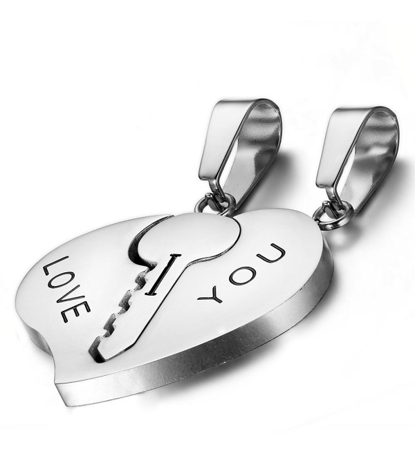 Flongo Stainless Valentine Engagement Anniversary - silver - CI11YQ70I7P