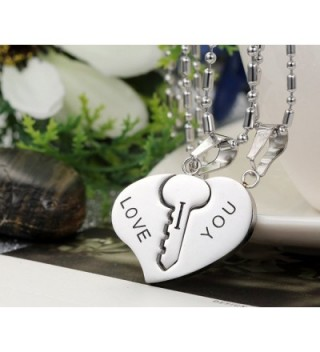 Flongo Stainless Valentine Engagement Anniversary in Women's Pendants