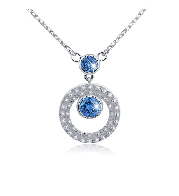 """Mother's Day Gift 925 Sterling Silver Eternal Love Circle of Life Pendant Necklace- Rolo Chain 18"""" - CT17XWM078U"""
