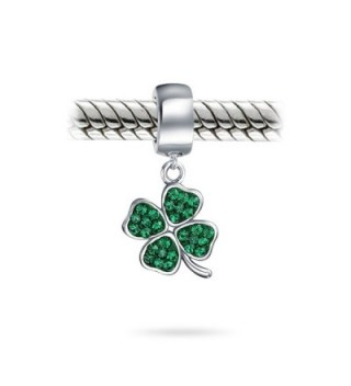 Bling Jewelry Silver Crystal Shamrock