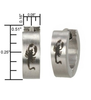 Stainless Steel Scorpion Huggie Earrings