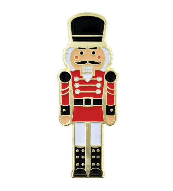 PinMart's Festive Nutcracker Holiday Christmas Enamel Lapel Pin - CF119PEMKBB