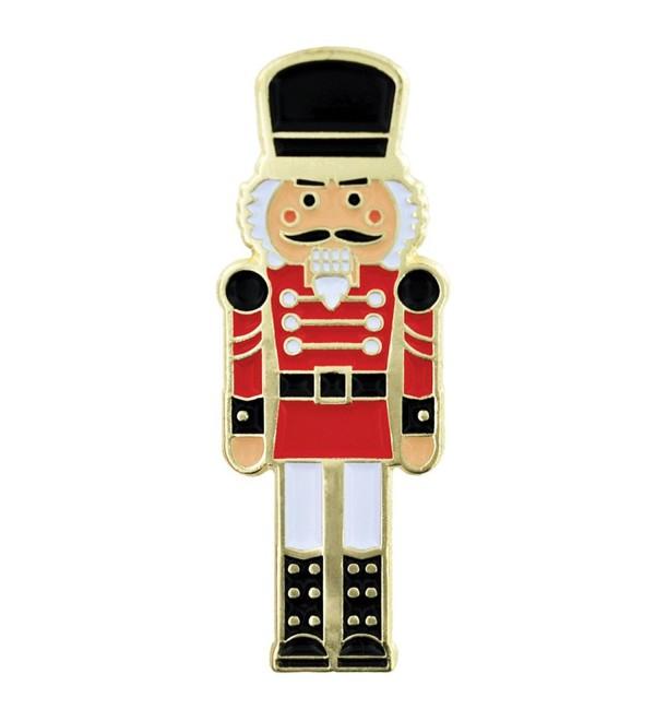 PinMart's Festive Nutcracker Holiday Christmas Enamel Lapel Pin - CF119PEMKBB