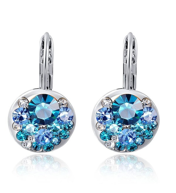 Ananth Jewels Swarovski Elements Blue Zircon Dangle Earrings for Women Jewelry - CR126EXKNGJ
