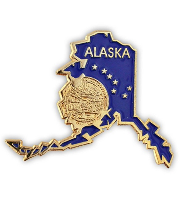 "PinMart's State Shape of Alaska with the Alaska Flag Lapel Pin 1-1/4"" - CH11JV2H8AJ"