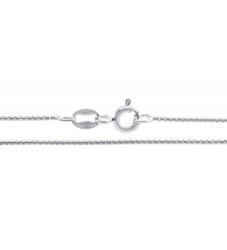 Sterling Silver Chain Necklace Round in Women's Chain Necklaces