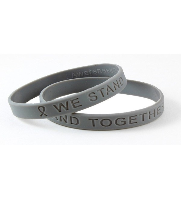 Gray Awareness Silicone Bracelet Buy 1 Give 1 -- 2 Bracelets for $8.99 - CS11CR4LBHZ