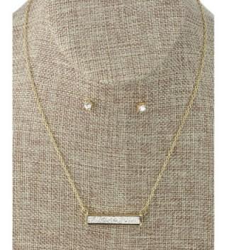 Womens Pendant Necklace Earrings Gold Tone in Women's Jewelry Sets