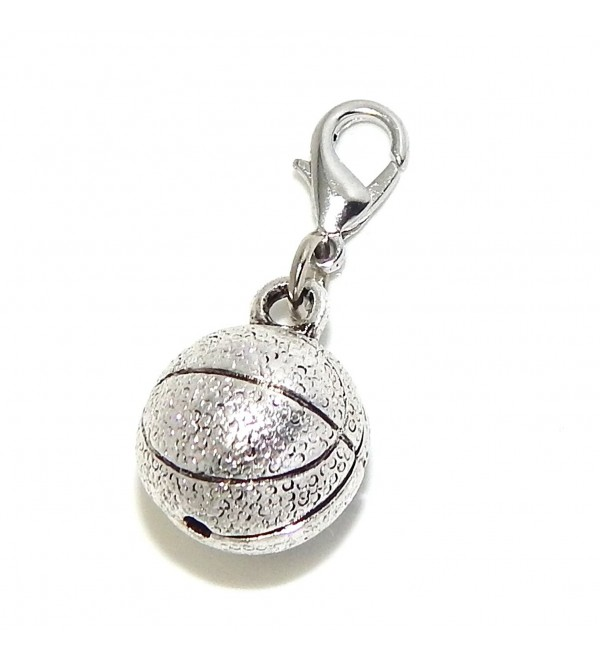 "Pro Jewelry Clip-on ""Basketball"" Charm Dangling - CM11LY9GU93"