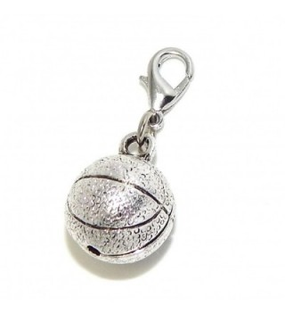 """Pro Jewelry Clip-on """"Basketball"""" Charm Dangling - CM11LY9GU93"""