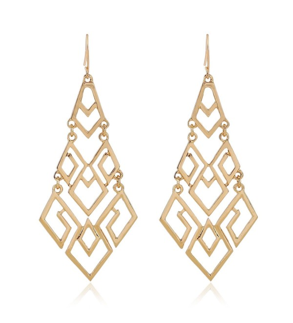 EXCEED Fashion Chandelier Lightweight Statement - Gold - CG182HLAKLU
