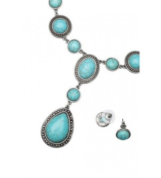 Necklace Earring Set Turquoise Magnesite