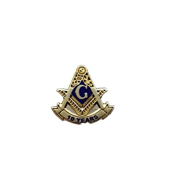 Blue Lodge 10 Years Freemason Masonic Lapel Pin - CU115OCP6R3