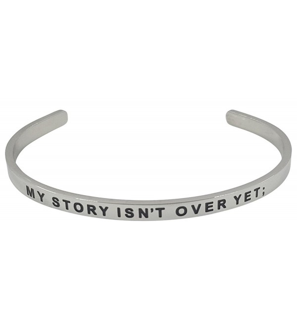 STRENGTH COURAGE Semicolon Inspirational Message - Silver - CG1866N4CD0