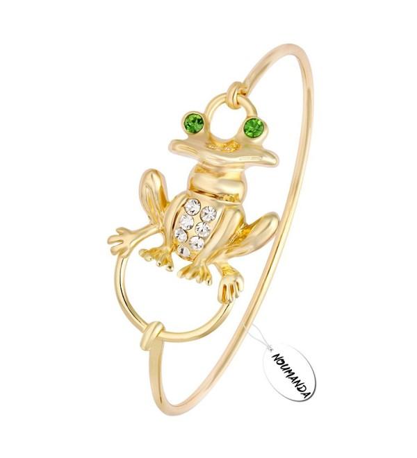 NOUMANDA Crystal Frog Charm Bracelet Lucky Item Clasp Jewelry for Women - CQ12N9KCOK1