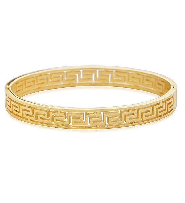 Edforce Stainless Womens Pattern Bracelet - Gold Thin - CL186RYEXTK