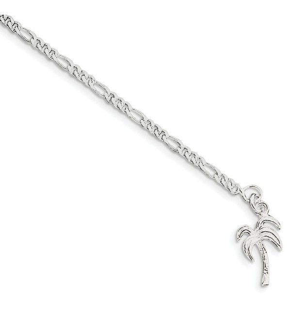 Sterling Silver Palm Tree Anklet - sterling-silver - CM115GOGLEB