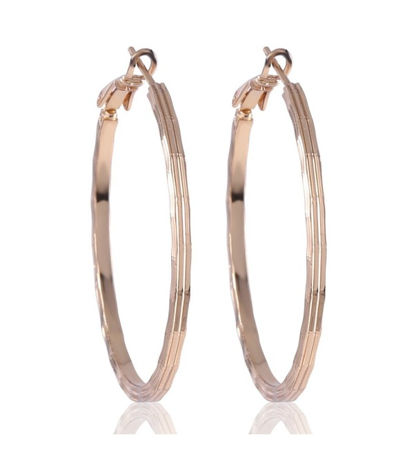GULICX Gold Plated Base Party Sexy Women Girl Creole Hoop Earrings Fashion Jewelry - C71225050SB