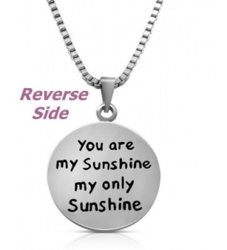 Stainless Steel Sunshine Necklace Jewelry in Women's Pendants