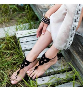 Crochet Barefoot Sandals jewelry Footless