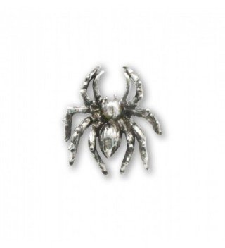 Spider Tie Tack or Jacket and Hat Pin Silver Finish Pewter - CO11IZK58KV