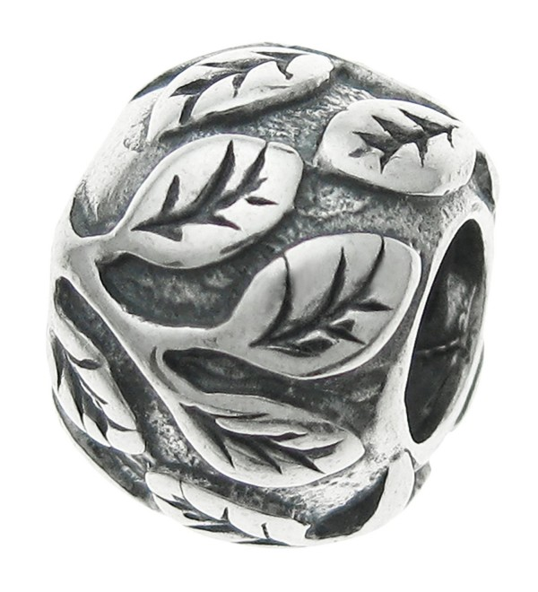 925 Sterling Silver Round Leaf Tree Life Bead For European Charm Bracelets - CP11EAMRZKX