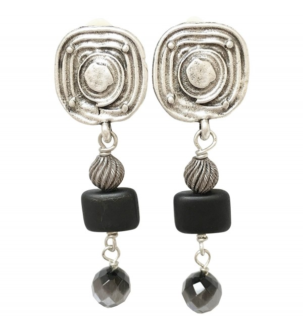 Shaune Bazner Sterling Silver-Plated Clip-on Earrings E-C7-21-SC - CD185DOUHOY