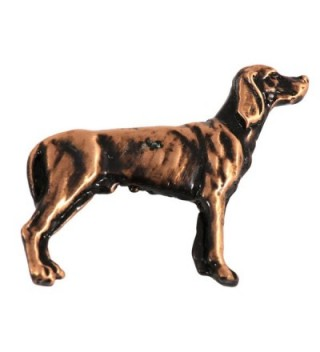 Creative Pewter Designs- Pewter Full Body Vizsla Handcrafted Dog Lapel Pin Brooch- D474F - CR122Y8FXKJ