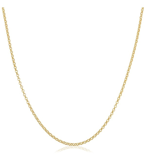 "14k Yellow Gold Filled 1mm Rolo Chain Necklace (16""- 18""- 20""- 22""- 24"" or 30"") - C612F156YUP"