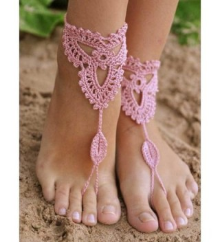 Crochet Barefoot Sandals jewelry Footless in Women's Anklets
