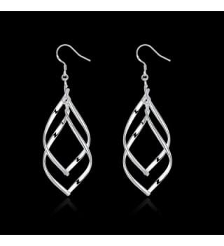 Sterling Silver%EF%BC%8C Double Tassels Earrings