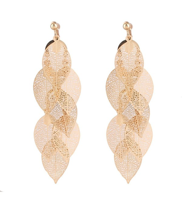 Grace Jun Handmade Multi layer Earrings - Gold Clip-on 1 - CM1887ON8ZH