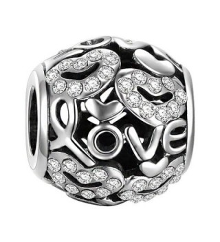 SOUFEEL Swarovski Hearts Love Charm 925 Sterling Silver Charms European Bracelets - CU1253JUH89