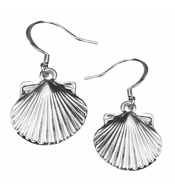 Scallop Shell Earrings by Cape Cod Jewelry-CCJ - CJ12EGT5MSR