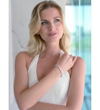 Mariell Wedding Bridal Bracelet Pear Shaped