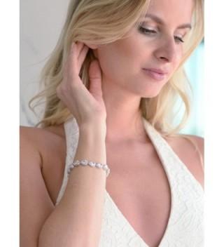 Mariell Wedding Bridal Bracelet Pear Shaped in Women's Tennis Bracelets
