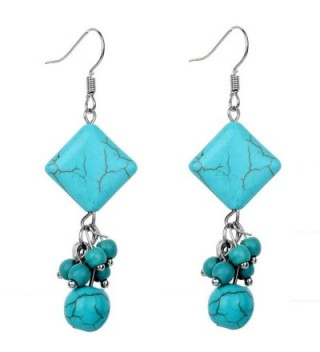 YAZILIND Pretty Women Hook Beaded Dangle Earrings Rimous Jewelry vintage - C611PV9M6S1