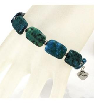 Chrysocolla Bracelet silver Toggle B13010154b