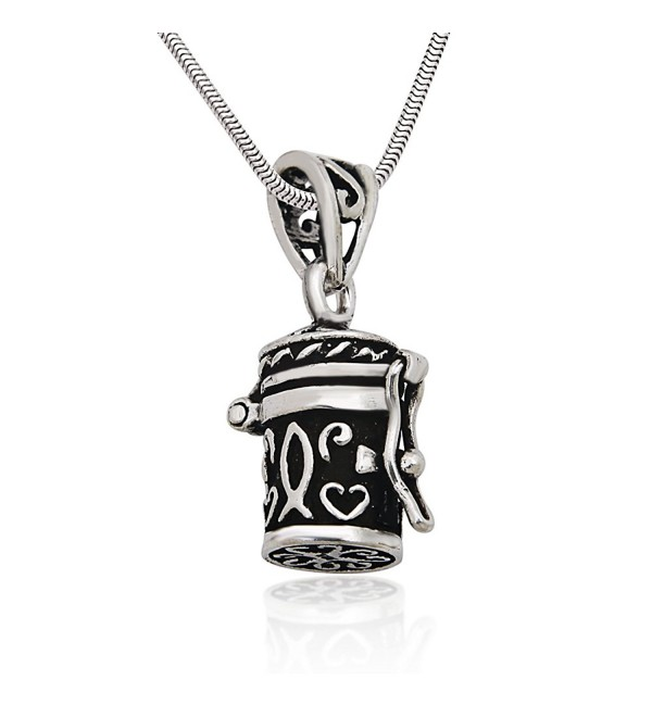 925 Sterling Silver Antique Style Poison Prayer Box Cross Locket Pendant on Alloy Necklace Chain - CL11KEKCWC7