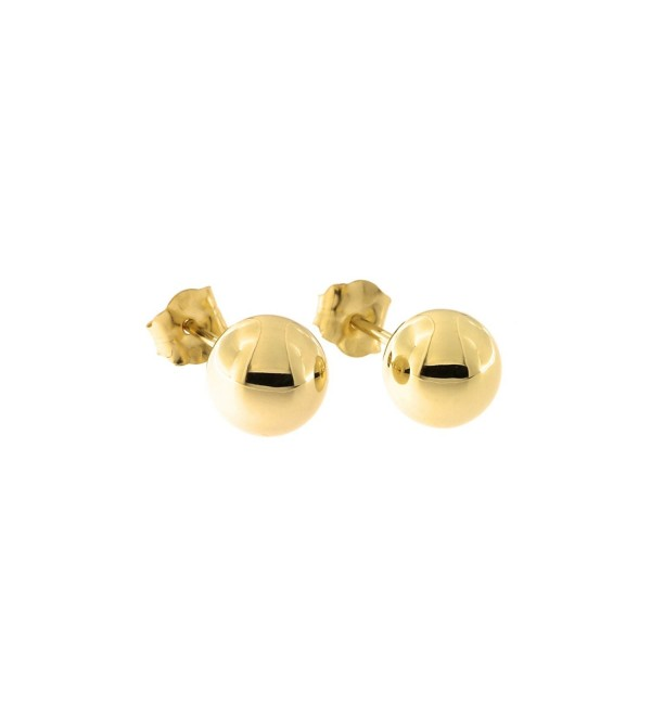14k Yellow Gold Ball Stud Earrings- 6mm - CC11OBNQ75L