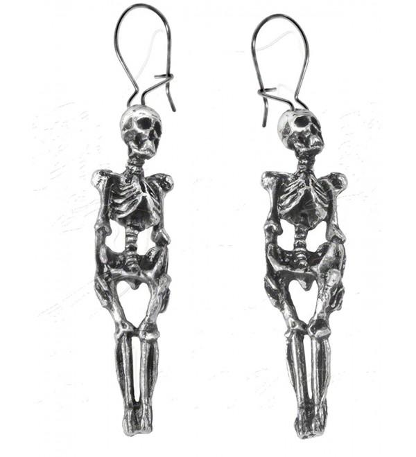 Skeleton Earrings by Alchemy Gothic- England - CG115A2DLD7