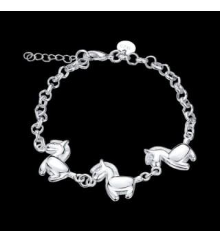 Horses Bracelet Sterling Silver Jewelry in Women's Bangle Bracelets
