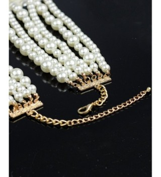 Simulated Pearl Fashion Necklace Earring in Women's Jewelry Sets