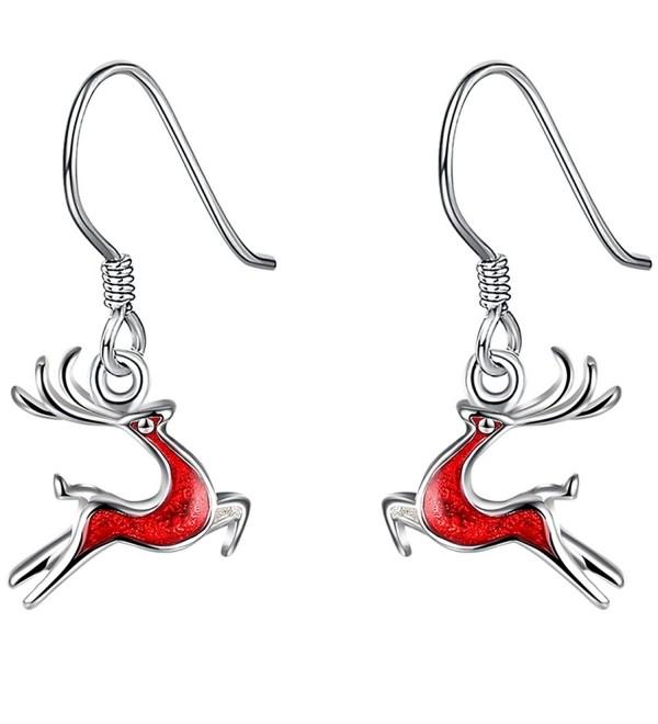 FENDINA Christmas Reindeer Sterling Earrings - Deer-2 - C512O4MH03V