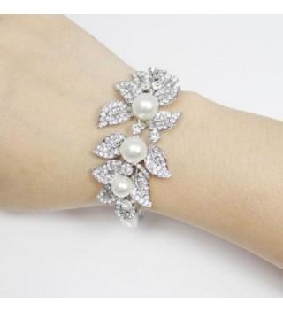 EVER FAITH Silver Tone Simulated Austrian in Women's Bangle Bracelets