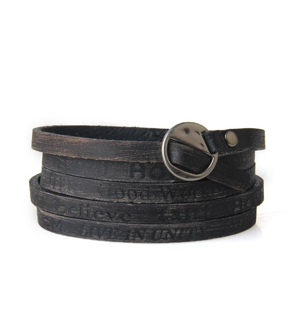 Soft Leather Bracelet Cuff Bangle