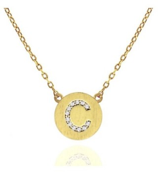14K Gold Plated Initial Alphabet Pendant Necklace Personalized Gifts for Women - C517Z5GDMCX